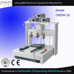 Three Dispensing Head Automated Dispensing Machines 0.01 Mm / Axis for sale