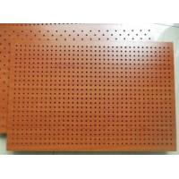 Fireproof Wooden Acoustic Perforated MDF Panels For Wall And Ceiling for sale