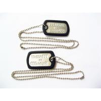 Fashionable Metal Dog Tags , Personalized Engraved Dog Tags For People for sale