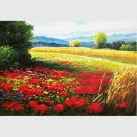 Abstract Palette Knife Painting Impressionist Oil Landscape Painting on Canvas for sale