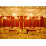 Aluminum Sliding Door Movable Acoustic Walls For Meeting Room No Floor Track for sale