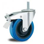 China 5'' stem rubber  industrial casters for sale