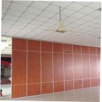 Conference Room Sliding Partition Walls , Restaurant Movable Wooden Soundproof Partition Wall for sale