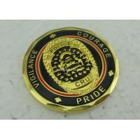 Soft Enamel Brass Personalized Coins Die Struck Gold CRU OEM for sale