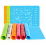 Animal Printing Silicone Kids Product , Kids Silicone Placemat For Toddlers for sale