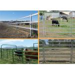 China Easily Assembled Farm Fence Panels 1.8*2.1m Round Pipe Cattle Yard Gates for sale
