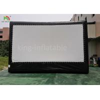 China 6*4 m Outdoor Inflatable Movie Screen / Projection Film Screen For Advertisement supplier