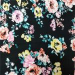 Environmental Printing Patterned Rayon Fabric , Soft Solid Rayon Fabric for sale