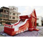 China Commercial grade inflatable Christmas jumping castle with slide for kids and adults for sale
