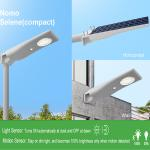 China Smart motion sensor compact all in one PC+ABS+ANTI-UV material solar lightweight street light for sale