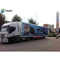 China Customize Color Mobile 5D Cinema Truck  With 12 Seats / Xd Movie Theater for sale