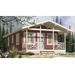 Steel Structure Modern Wooden Log Houses , High Insulation Prefabricated Bungalow Homes