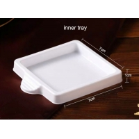 China PS Base Clear 9pcs Disposable Durian Square Cake Trays supplier