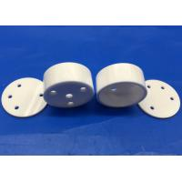 China High Temperature Zirconia Ceramic Isolator / Small Ceramic Crucible with Top Cover for sale