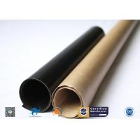 China Heat Resistance Non-Stick E-Glass Plain Woven PTFE Coated Fiberglass Fabric for sale
