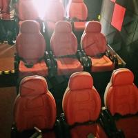 China Excellent Design Electric 5D Theater Seats For Mini Cinema Red Color for sale