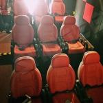 Excellent Design Electric 5D Theater Seats For Mini Cinema Red Color for sale