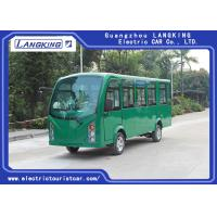 China Closed Door Electric Sightseeing Car With Superior Cruising Capacity 72 Volt 7.5KW AC Motor 14 seats for sale