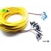 24F 0.9mm Pre-terminated cable ST UPC - LC UPC 9/125μm Single Mode Mini Breakout Fibre Optic Patch Cable for sale