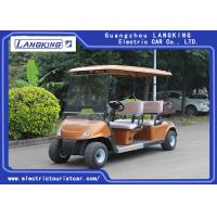China Golden color  Electric four Passenger Golf Cart With 48V Battery For Sightseeing CE Approved for sale