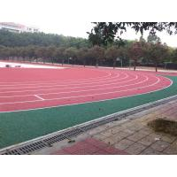 Anti - Shock Polyurethane Rubber Running Track Surface / Jogging Track Material for sale