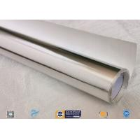 0.018 Inch Waterproof Aluminium Foil Fiberglass Fabric Flexible Hose Heat Shield for sale