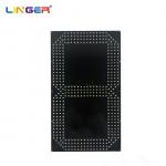 China 20 Inch Single Yellow 7 Segment Digit Board To Make Football Scoreboard for sale