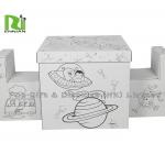 Recyclable Foldable Painted DIY Corrugated Cardboard Toys Furniture By Kids for sale