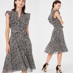 China Summer Ruffle Polka Dot Midi Dress Women Casual Dresses Ladies for sale