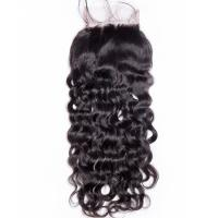 China Human Hair Swiss Lace Closure Malaysian Hair Extensions 4 X 4 Water Wave supplier