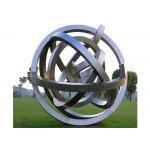 Outdoor Metal Sphere Large Modern Stainless Steel Garden Sculpture for sale