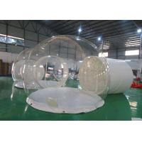CE EN14960 Three Rooms Glamping Tent , Inflatable Bubble Lodge Tent With Metal Tunnel for sale