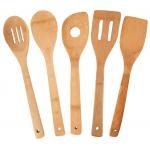 FPA free organic bamboo reusable kitchen cooking utensil with holder set of 7 for sale