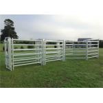 China Heavy Duty Livestock Cattle Yard Panels Australia Standard 1.8m High 6 Rails for sale