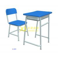 China Middle School Single Desk And Chair With Color Customied / Classroom Furniture for sale