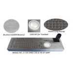 Metal Joystick Keyboard Stainless Steel Desktop with trackball mouse for sale