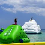 0.9mm PVC Tarpaulin Inflatable Water Sports Games / Blow Up Iceberg for sale