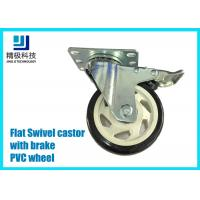 3-5 inch PVC / ESD Flat Free Swivel Caster Wheels Plate - mount With Brake Assembly for sale