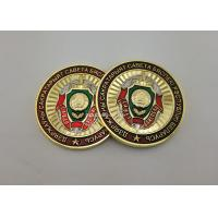 Flat Or Double Back Personalized Gold Coins , 3D Zinc Alloy Navy Transparent Enamel Coin for sale