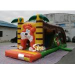 8 Meters Long Kids Inflatable Jungle Bouncy Castle With Tunnel With EN14960 Certified for sale