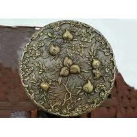 China Casting Bronze Relief Sculpture Classic Style 1.8m Diameter Decorative Peaches supplier