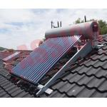 China Integrated Pressurized Rooftop Solar Water Heater Silver Steel Outer Tank for sale
