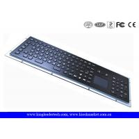 IP65 Black Industrial Metal Kiosk Keyboard With Touchpad And Function Keys