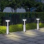 Decorative Solar Panel Street Lights 1 Metre 360 Degree Lighting High Efficiency for sale