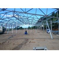 China Reunion Steel Frame Architecture , Green House Metal Building Truss Design supplier