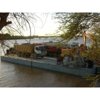 Working Offshore Ferry Barge floating pontoon platforms Reusable for sale