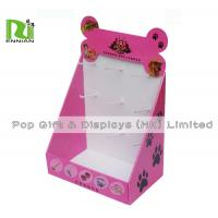 Pink Children'S Rubber Band Cardboard Counter Displays With Gloss Lamination for sale