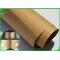 China 80 Gsm Brown Kraft Paper Roll High Stiffness Virgin Wood Pulp Material for sale