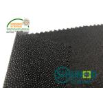 China Black PA Coated Woven Interlining Twill Woven Stretch Interfacing for sale