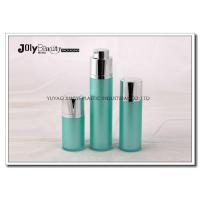 China Green Rotatable Airless Plastic Cosmetic Bottles Acrylic For Cream 15ml supplier